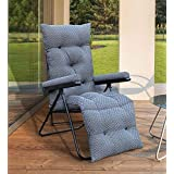 Spacecrafts Recliner Folding Easy Chair (Full, Grey)