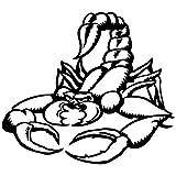 Wandtattoo Logo Skorpion selbstklebend–mehrere Farben erhältlich–20x 18 schwarz