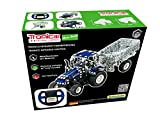 Metal Construction Kit, RC Tractor New Holland T5-115, Tractor with trailer, Remote Control, Infrared Control, 454 parts, LED-light, including tools, 12+, Tronico