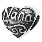 Die besten Bling Schmuck Großmutter Charms - 925Sterling Silber antik Herz Love Nana Oma Großmutter Bewertungen