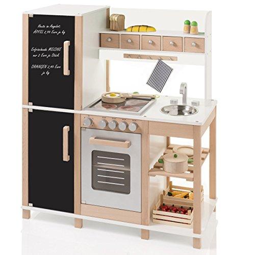 Preisvergleich Produktbild Kinderküche Spielküche aus Holz mit Tafel - Sun 4139
