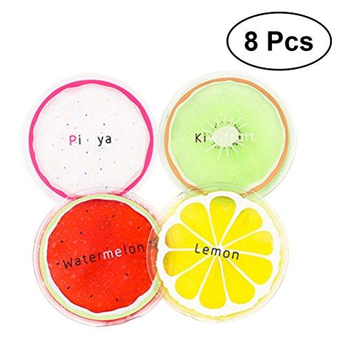 Kalten Gel-augenmaske (Healifty Wiederverwendbare kalte Gelkissen, für Kinder und Erwachsene, für Kalttherapie geeignet, 8 Stück)