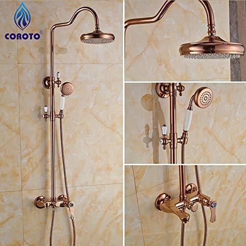 2016 neue Bad Dusche Set Rose Gold Duschpaneel für Duschbad