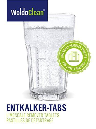 WoldoClean 50x Entkalker-Tabletten Entkalkertabs für Kaffeevollautomaten Kaffeemaschinen und Wasserkocher - 5