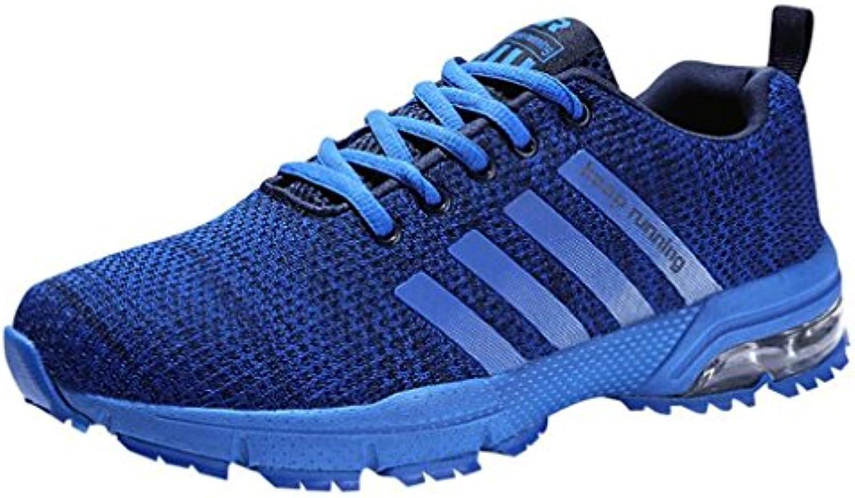 mogeek Herren Laufschuhe Sportschuhe Trainers Running Fitness Turnschuhe Atmungsaktiv Low Top Sneaker