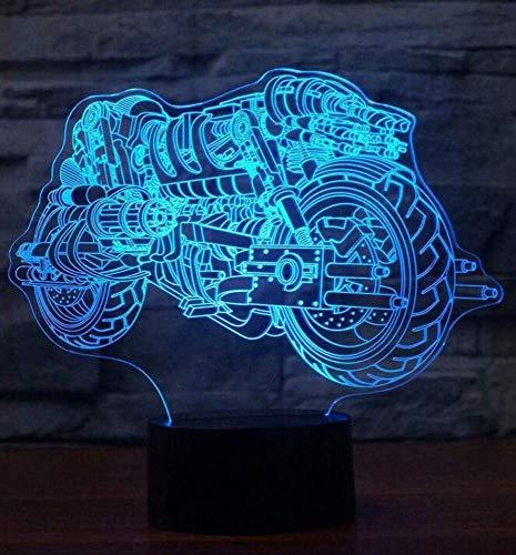 Nachtlicht Wandlampe Led Lampe Kreative 3D Coole Motorrad Tischlampe Bunte Led Nachtlichter Usb Home Decor Beleuchtung Befestigung Kinder Schlafzimmer Bedside Schlaf Geschenk für Küche Schlafzimmer W (Home-beleuchtung-befestigungen)