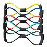 BlueBeach Tipo di banda 8 resistenza Fitness - palestra Yoga muscolare allenamento esercizio attrezzature elastico formazione tubo corda cavo moda elasticizzato corpo utensile (colori casuali) - BlueBeach - amazon.it