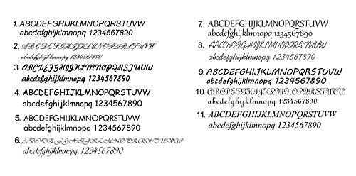 Tinasfunshop Partner Set bestehend aus 2 Echt Leder Armbänder 12 mm mit Edelstahl Gravurplatten und Edelstahl Verschlüßen sowie Laser Gravuren Ihrer Wahl (23 Zentimeter) (14 Zentimeter) (23 Zentimeter) (17 Zentimeter)
