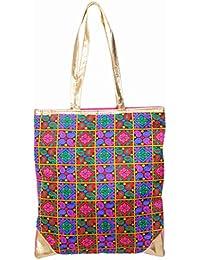 Ratash Tote Bag Square Embroidery (Blue Back) (Hbd_10_11_12_12)