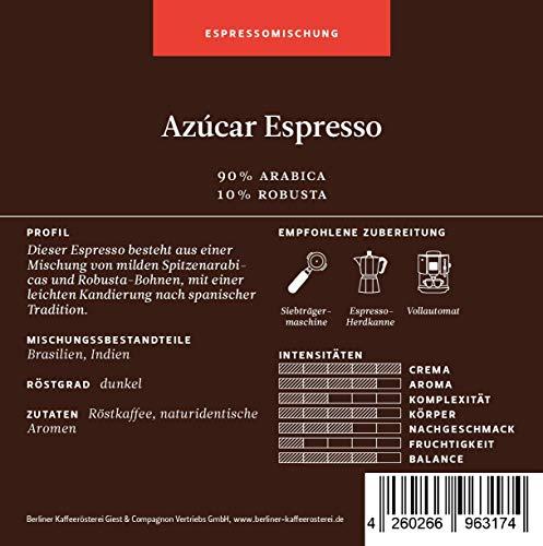 BKR | Espresso | Azucar | Arabica | Mischung 500g Bohne