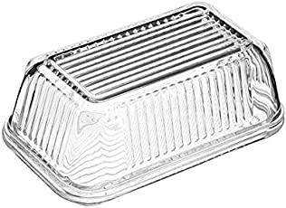 Pasabahce 97711 Butterdose, Frischhaltedose Gusto, 17 x 10,2 cm, 2-teilig aus Glas