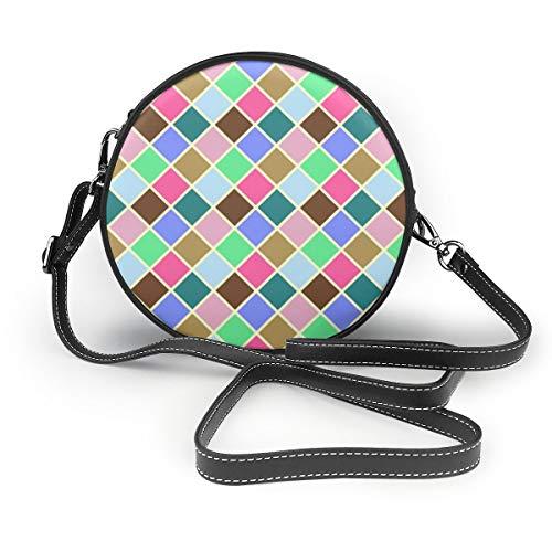 Ameok-Design RX Sommer Schultertasche Umhängetasche Umhängetasche Multifunktions PU Leder für Einkaufen Reisen rund