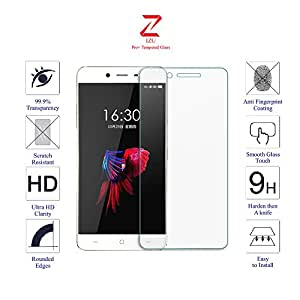 OnePlus x / One Plus X / One+ X (ONYX) Glass Screen Protector Tempered Glass-Pack of 1 , IZU® Pro Tempered Glass Ballistics Glass, 99% Touch-screen Accurate, Anti-Scratch, Anti-Fingerprint, Round Edge [0.3mm] Ultra-clear - Retail Packaging
