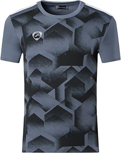 jeansian Herren Sportswear Quick Dry Short Sleeve T-Shirt (USA L, LSL204a_Gray)