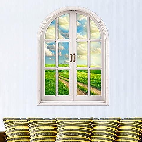 3D stereo parete finestra windows guards pubblicato nella finestra di emulazione soggiorno camera da letto studio dipinti decorano l'hd ,4 autoadesivo