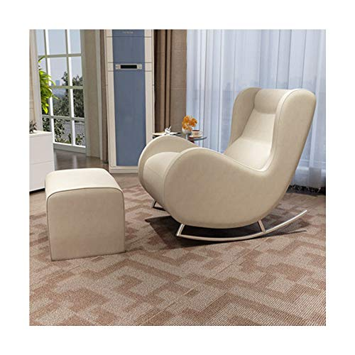 TAO Moderner minimalistischer fauler Sofa-Stuhl-Klubsesselbalkonmittagessenpause (Color : Beige) -