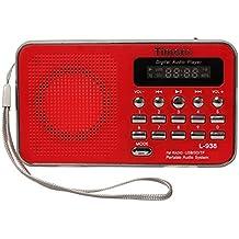 Timorn Radio Mini portátil reproductor de música Soporta la función de la tarjeta de TF / USB / SD / MP3 / FM radio (L938) (rojo)