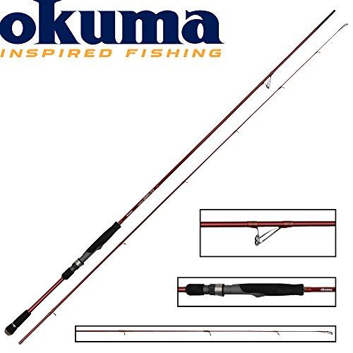 Okuma Egi Pro 245cm 3-20g Spinnrute, leichte Spinnruten für Barsch, Forellen & Zander, Ultraleicht Rute, Ultralight Angelrute, leichtes Spinnfischen