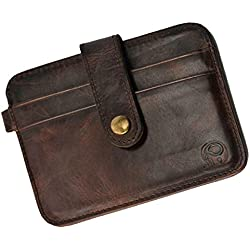 MagiDeal Men Fashionable Durable Multi-Functional PU Leather Wallet Credit Card Holder Case Organiser Coffee