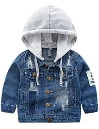 03da6957b7610 ARAUS Veste en Jean Manches Longue pour Enfants Manteau Automne d hiver  pour Enfant Coupe