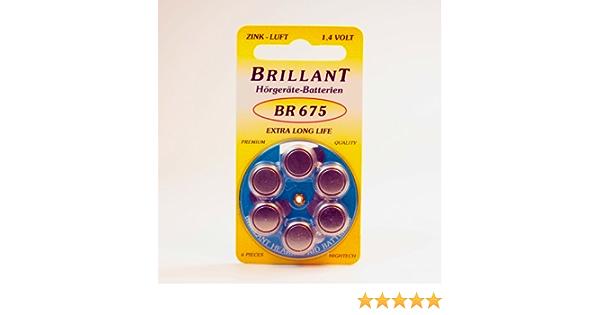 Brillant Br 675 Hörgerätebatterie Elektronik