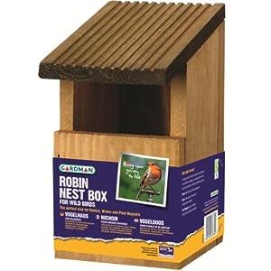 Gardman Robin/wren Wild Bird Wooden Nest Box/house Garden  by OV