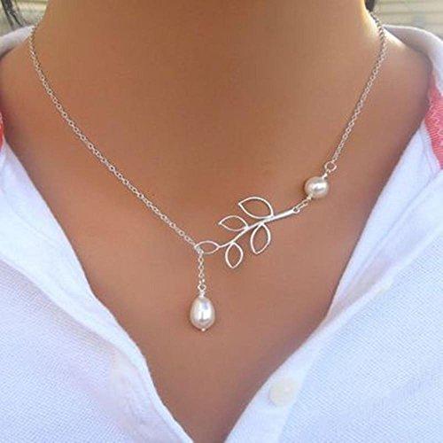 WTING Halsketten-Dame-hei?e Art- und Weisehohle Bl?tter-Perlen-kurze Halskette , - Perle-perlen-halsketten-bulk