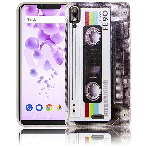 thematys Passend für Wiko View 2 GO Kassette RetroHandy-Hülle Silikon - staubdicht stoßfest & leicht - Smartphone-Case
