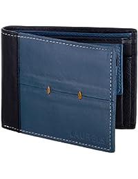Laurels Bloke Blue Leather Men's Wallet (Lw-Blk-0302)