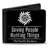 Buckle Down Men's Wallet Winchster Pentagram Saving People Hunting Things-The Bi-Fold, Multi, One