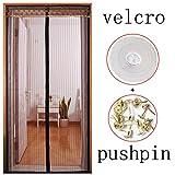 Moskitonetz zum aufhängen Tür Velcro Fliegengitter,Magnetische Selbstklebend Durchsichtige Für Home Schlafzimmer Garten Abnehmbar-Q 110x230cm(43x91inch)