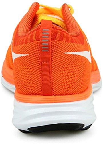 Nike 620465 011 Flyknit Lunar2 Herren Sportschuhe - Running BRIGHT MANGO/BLACK