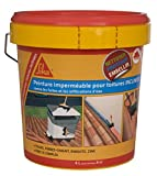 Sikagard Protection Toiture inclinée, Protection contre fuites et infiltrations d'eau, 4L, Terre cuite