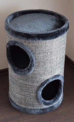 Lemio - Katzentonne Browny Kratzbaum - Katzenbaum - Kratztonne 50cm - Höhle - Möbel für Katzen (grau (Graycys))