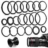Fotover 20 teiliges Metall Step-Up Adapter Ringe & Set Down Adapter Ringe Kit Objektiv Filter Schritt Adapter Ringe Set for Canon Nikon Sony Pentax Olympus Fuji DSLR Kamera
