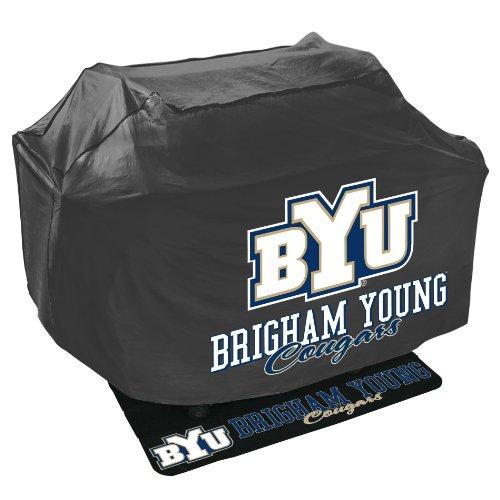 Mr Bar B Q NCAA Grill Abdeckung und Grill Matte Set, Brigham (Young Universität Cougar