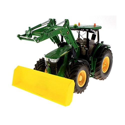 Schiebeschild für Siku Traktoren mit Frontdreieck 1:32 (Gelb)