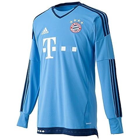 adidas Herren Langarm Torwart-heimtrikot FC Bayern München Replica, blau (Lucky