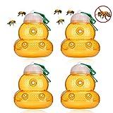 99native Piège à Guêpe,Piège à Abeilles,Bee Catcher Appâts Piège Frelon avec Attire Efficacement Lutte Contre Les Parasites du Jardin Piège à Frelons à Suspendre pour Attirer Les Guêpes (4PCS)