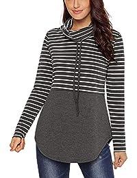 4eeb2c86d8b Closhion Women s Long Sleeve Casual Lightweight Sweatshirts Tunic Shirt  Cowl Neck Jumper Top