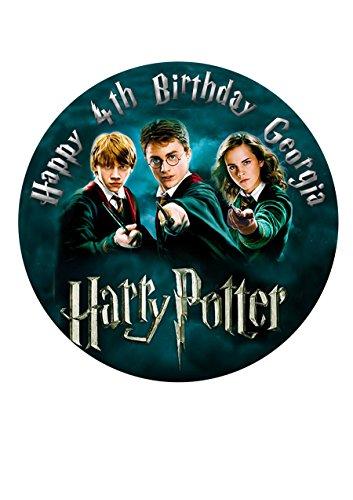 Harry Potter Personalisierte Kuchen Topper Puderzucker Papier 19,1cm Bild E3