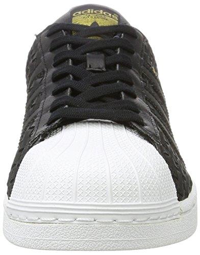 adidas Originals Superstar, Baskets Basses Mixte Adulte Noir (Cblack/cblack/ftwwht)