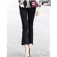TT&NIUZAIKU Mujer Vintage Ajustado Pantalones - Un Color , black , m