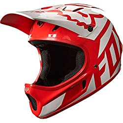 Fox Trail de casco Fox Rampage Race 18632 – 054 de l, color rojo/blanco, tamaño large