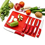 Cutting Board Is Made Of Food-Grade Material. It Helps You To Cut Vegetables, Fruits, Fish, Meat, Etc. Without Any Cutting Marks On Your Kitchen Or Table & Makes Your Cutting Task Easier & Faster. This Makes Your Kitchen Look Attractive. It I...