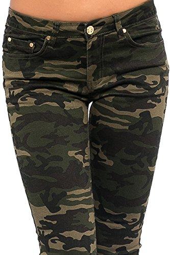 Die Beste Damen Jeans Hose Skinny Röhre Camouflage Damenjeans Army ... 104d4f208c