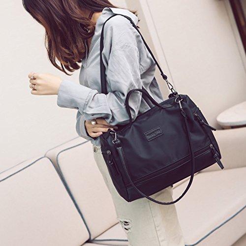Nclon Große kapazität Canvas canvas Grosse tasche Damen handtaschen Schultertasche Handtasche Vintage Schulter taschen messenger Hobo handbag Umhängetasche-schwarz schwarz