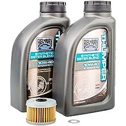 Colmillo de 4tiempos Kit de cambio aceite Bel-Ray Thumper Full sintética 10W-40-encaja: Honda TRX 400EX 1999-2008
