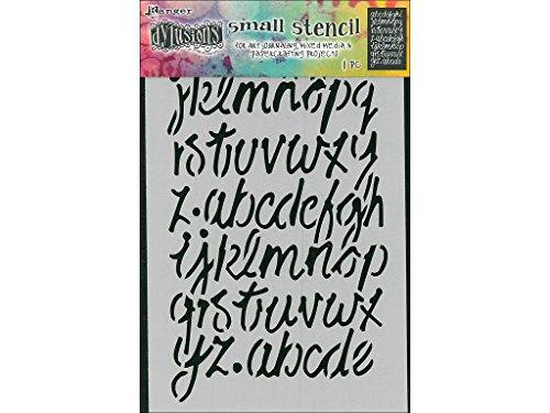 Ranger Dylusions Modern Script Stencil, Transparent, Small