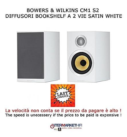 Bowers & Wilkins CM1S2Bookshelf Speaker, Satin White,